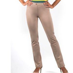 Betabrand Classic Yoga Dress Pants Tan